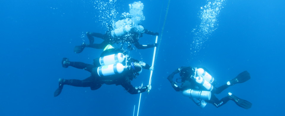 Technical diving training
